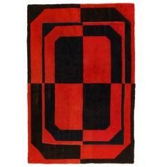 Vintage French Modernist Carpet