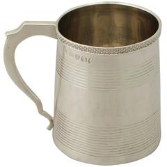 Sterling Silver Christening Mug, Antique George III