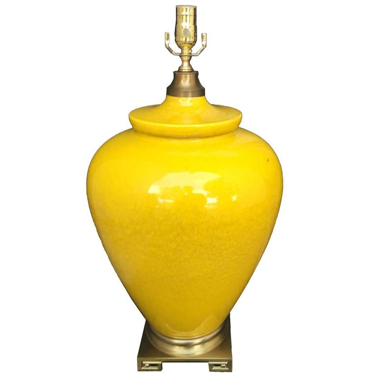 Yellow Midcentury Lamp For Sale At 1stdibs