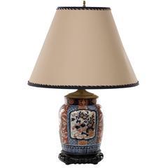 19th Century Japanese Imari Ovoid Porcelain Urn Table Lamp