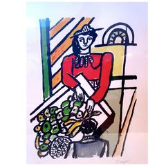 Original Signed and Numbered 47/180 Lithograph by Fernand Leger