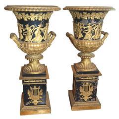Period Empire Bronze Neoclassical Urns
