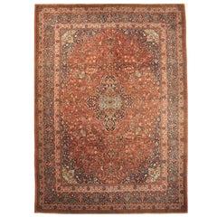 Antique Room Size Persian Kashan Rug