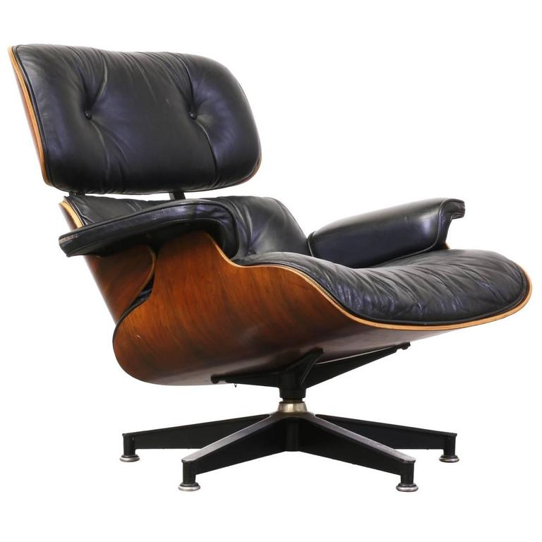 Charles and ray eames 670 leather and rosewood lounge for Charles eames lounge chair preisvergleich