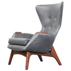 Adrian Pearsall Leather Wing High Back Chair for Craft Associates