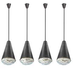 Max Ingrand, Pendant Lamp Model 1995, Fontana Arte, Italy, 1960
