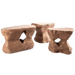 Set of Three Coffee Table in Bronze-River 1/2/3 Studio Superego, Italy
