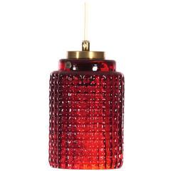 Mid-Century Modern Pendant Lamp by Reijmyre Glasbruk