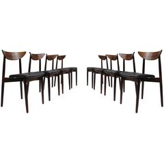 Harry Ostergaaed Midcentury Danish Rosewood Dining Chairs
