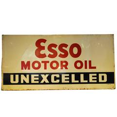 1939 Esso Motor Oil Automobilia Sign