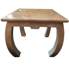 Fabulous Enrigue Garcel Goatskin Asian Style Side End Table