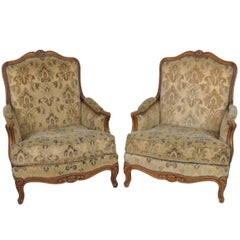 Pair of Antique French Carved Bergeres