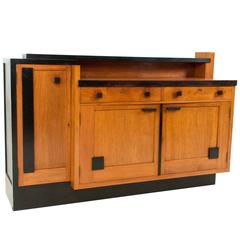 Rare and Important Art Deco Haagse School Credenza by Toko v/d Pol Semarang