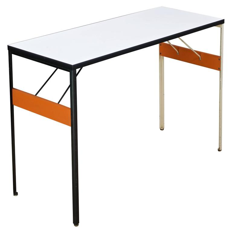 1960s george nelson steelframe console table desk minimalist pop art for sale at 1stdibs. Black Bedroom Furniture Sets. Home Design Ideas
