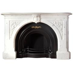 Carved Victorian Fireplace