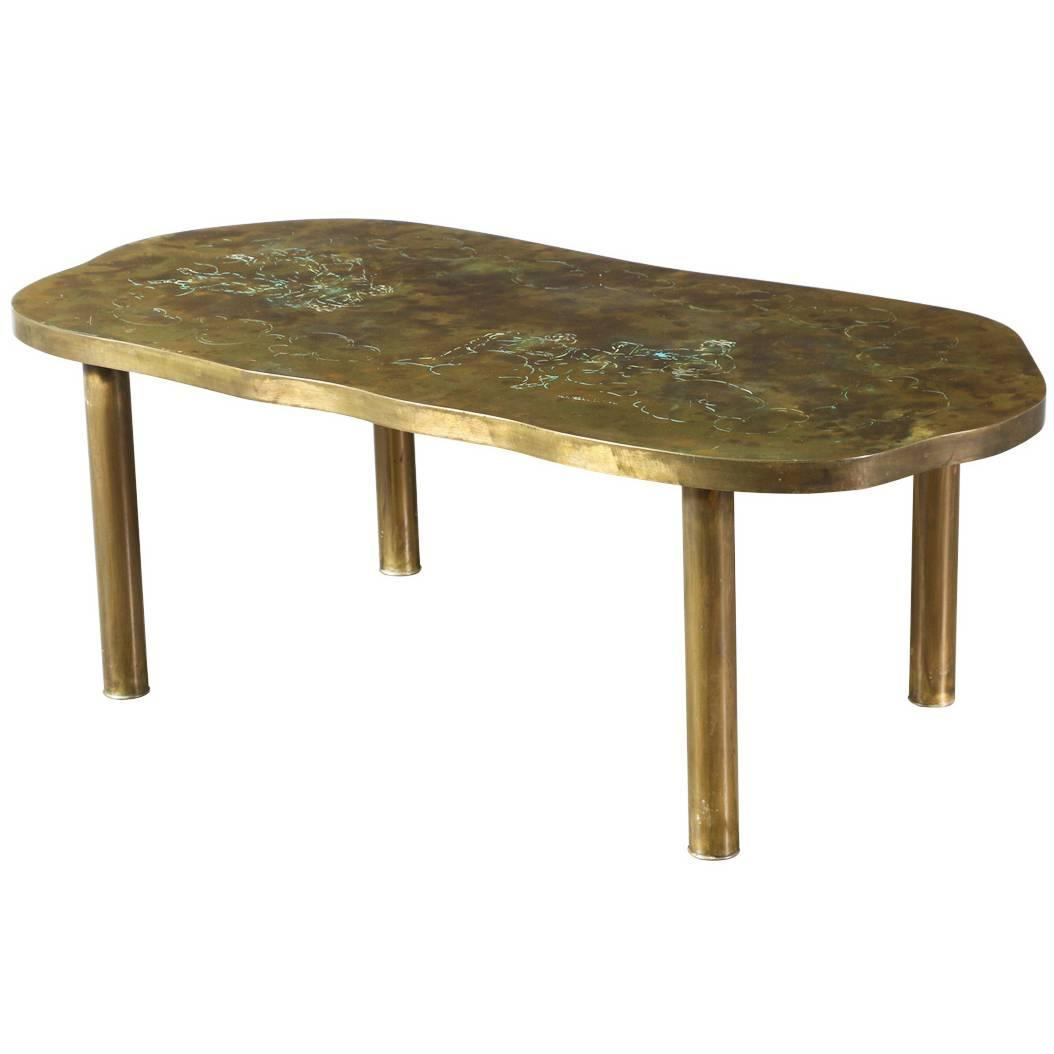 Philip And Kelvin Laverne Bronze Coffee Table For Sale At 1stdibs