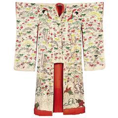 Japanese Embroidery Wedding Kimono, Early 20th Century