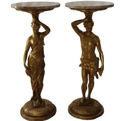 20th Century Pair of Side Tables