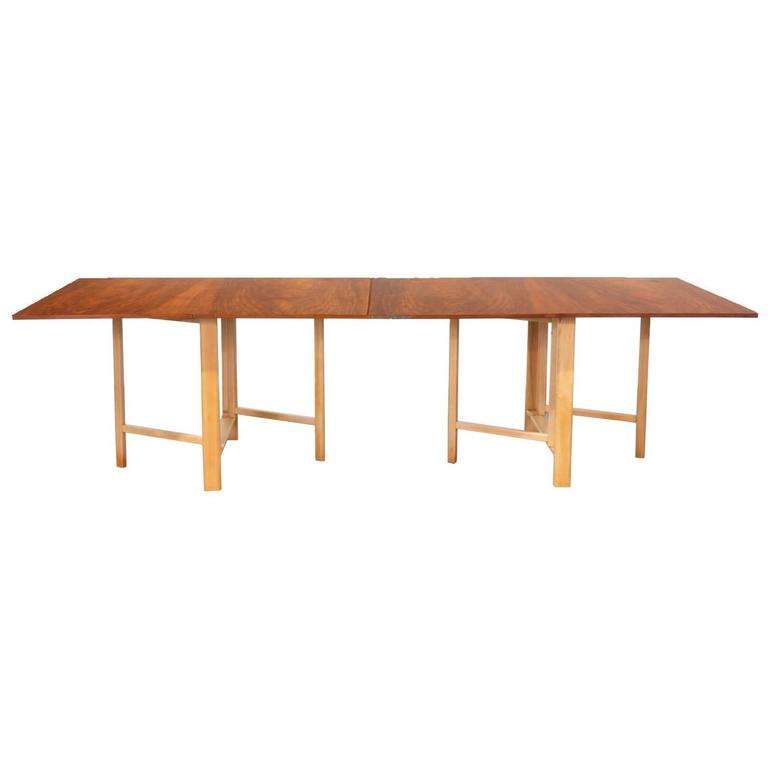 "Bruno Mathsson ""Maria Flap"" Dining Table for Karl Mathsson For Sale"