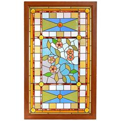 Amazing Aesthetic Victorian Stained Glass Landing Window