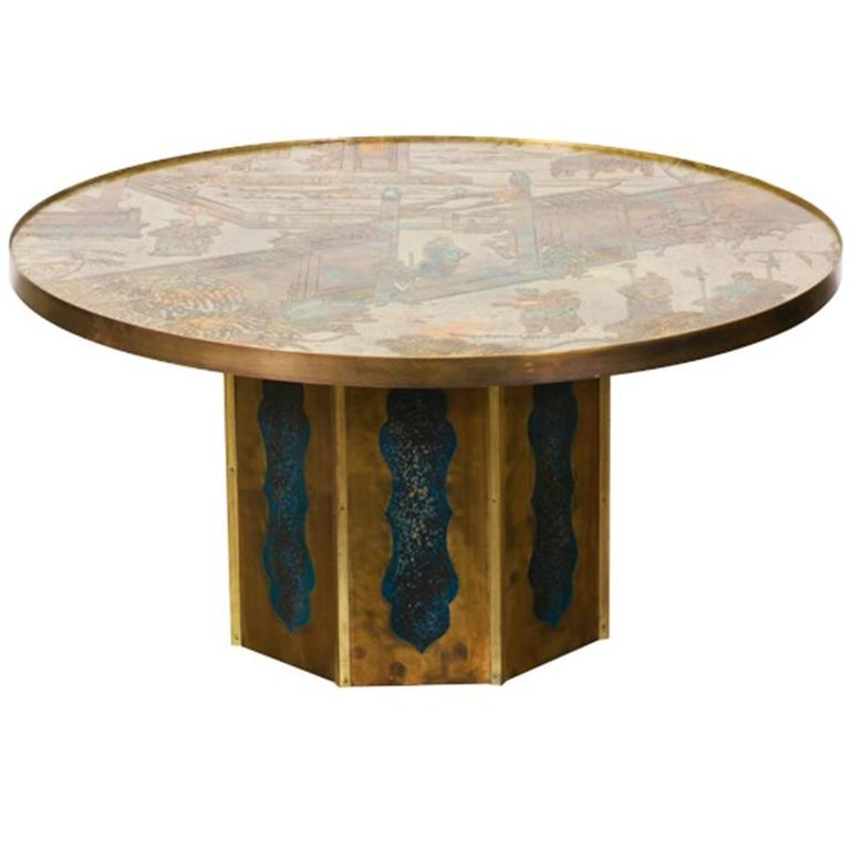 """Philip and Kelvin LaVerne Bronze """"Chan"""" Coffee Table"""