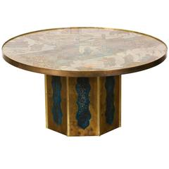 "Philip and Kelvin LaVerne Bronze ""Chan"" Coffee Table"