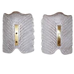 Moderne Molded Glass Sconces