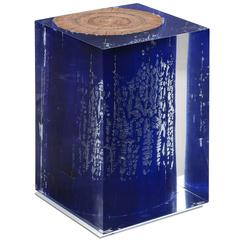 Blue Trunk in Acrylic Side Table