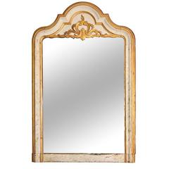 Large-Scale Arched Trumeau Mirror, circa 1850