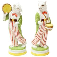 Pair of 20th Century Italian Porcelain Figurines of Bears