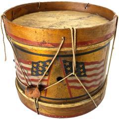 Patriotic Child's Toy Drum, circa 1890s