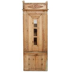 Antique Turkish Early 20th Century Thin Pine Cabinet