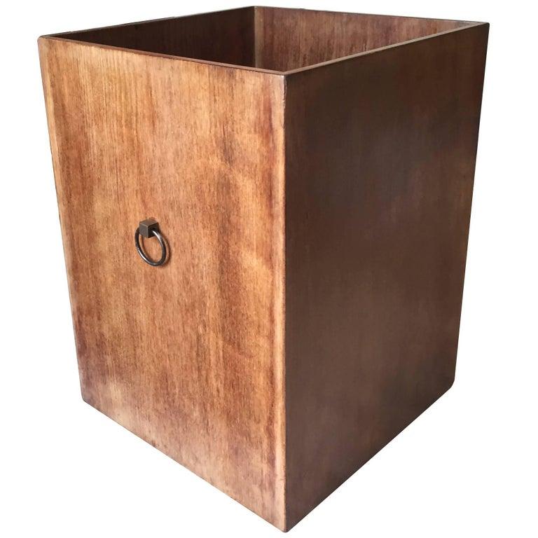 Rare Custom Robsjohn-Gibbings Wastebasket For Sale