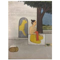 Indian Watercolor From a Ragamala Series