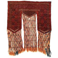 19th Century Antique Tekke Khalyk Tribal Wool and Cotton Rug
