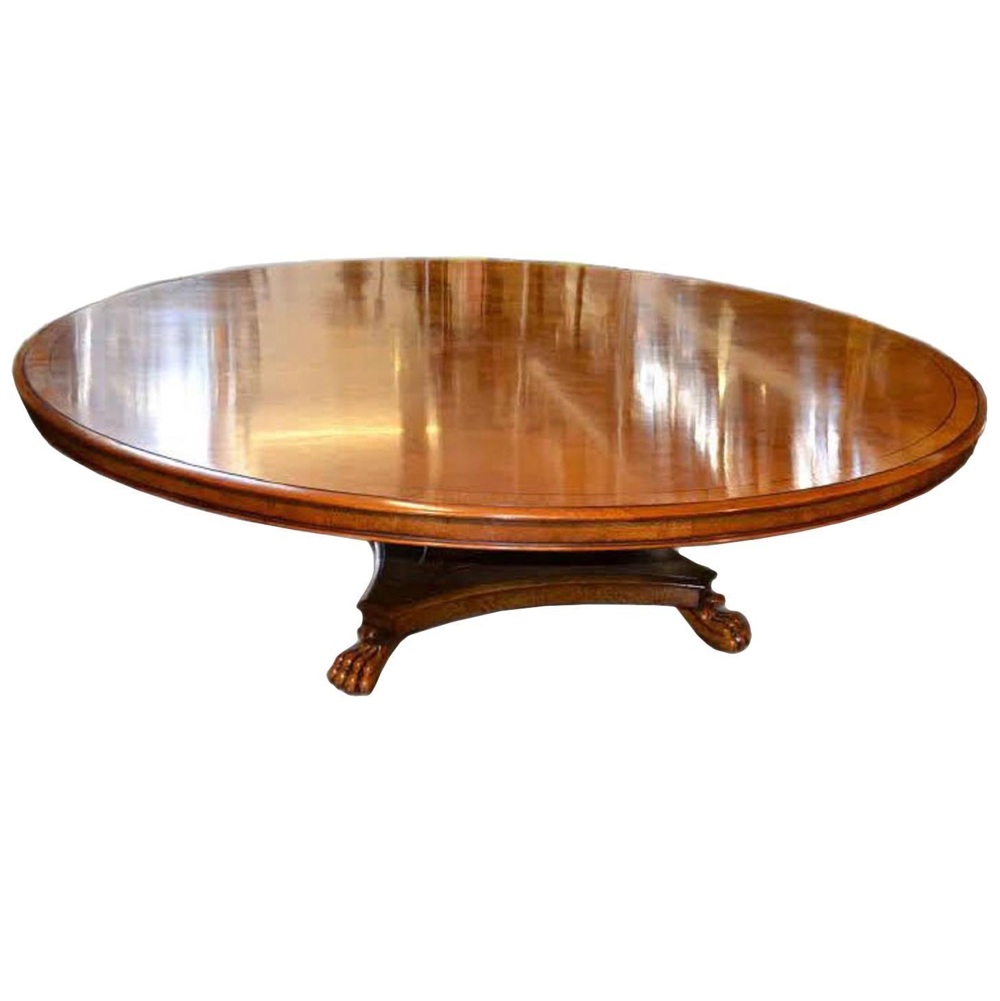 Round Oak Table : Vintage Regency Round Pollard Oak Dining Table For Sale at 1stdibs