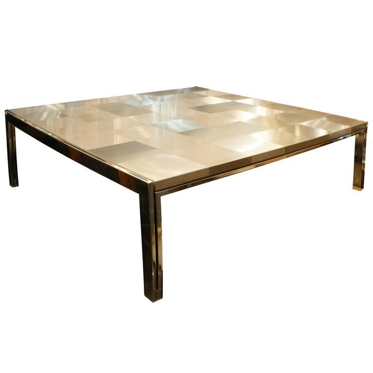 """1970s Steel Coffee Table """"Luar"""" by Ross Little"""