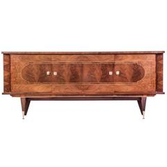 Luxe French Art Deco Buffet/Sideboard in Walnut