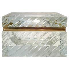 Etched Murano Glass Box by Mandruzzato