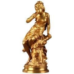 "Bronze Statue ""La Source"" by Mathurin Moreau"