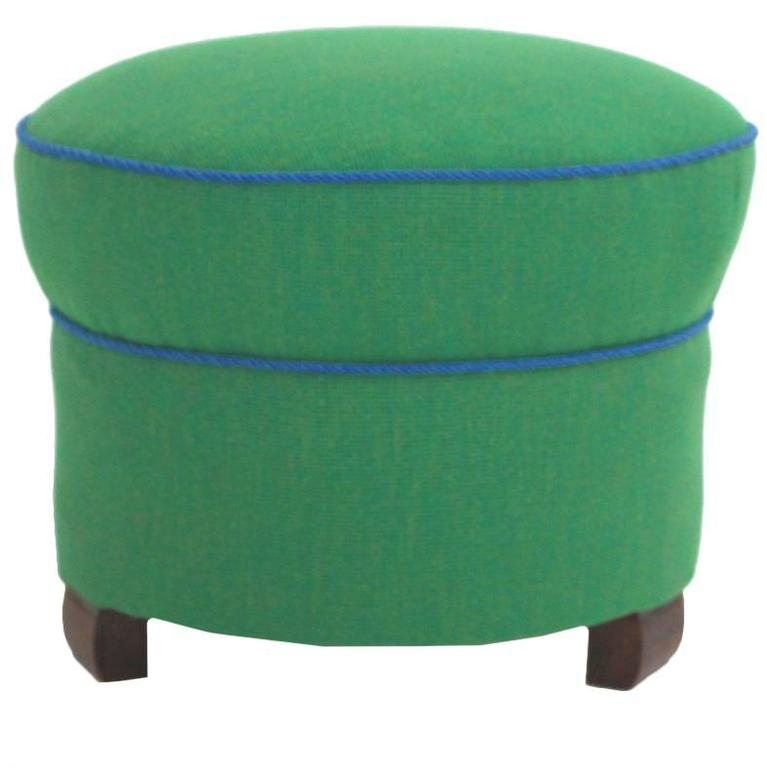 green art deco pouf or tabouret vienna 1930s at 1stdibs. Black Bedroom Furniture Sets. Home Design Ideas