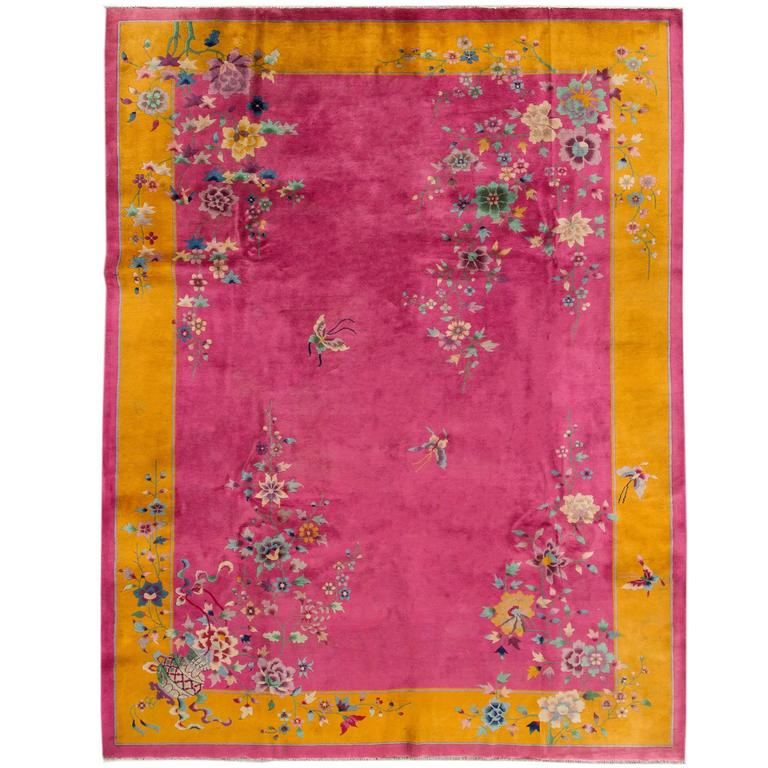 This Pink Chinese Deco Rug Is No Longer Available
