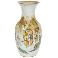 Early 20th Century Chinese Polychrome Ceramic Vase