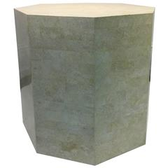 Marvelous Maitland-Smith Marble Table or Column with Geometric Design