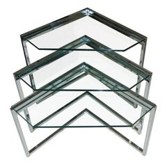 Polished Steel Nesting Tables