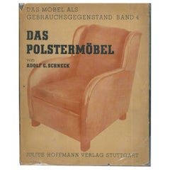 """DAS POLSTERMOBEL"" (Upholstered Furniture) von Adolf Schneck Book"