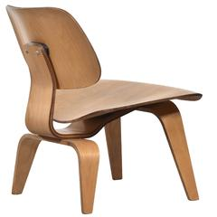Eames LCW Oak Lounge Chair for Herman Miller