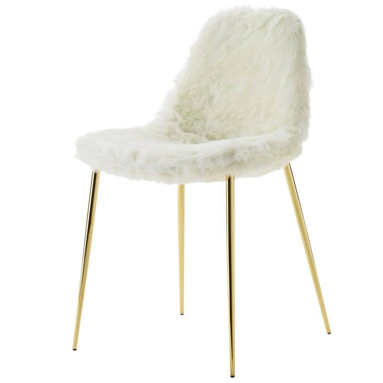 Mammamia White Fur Chair For Sale At 1stdibs