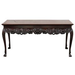 Early 19th Century Irish Center Table with Lion Mask