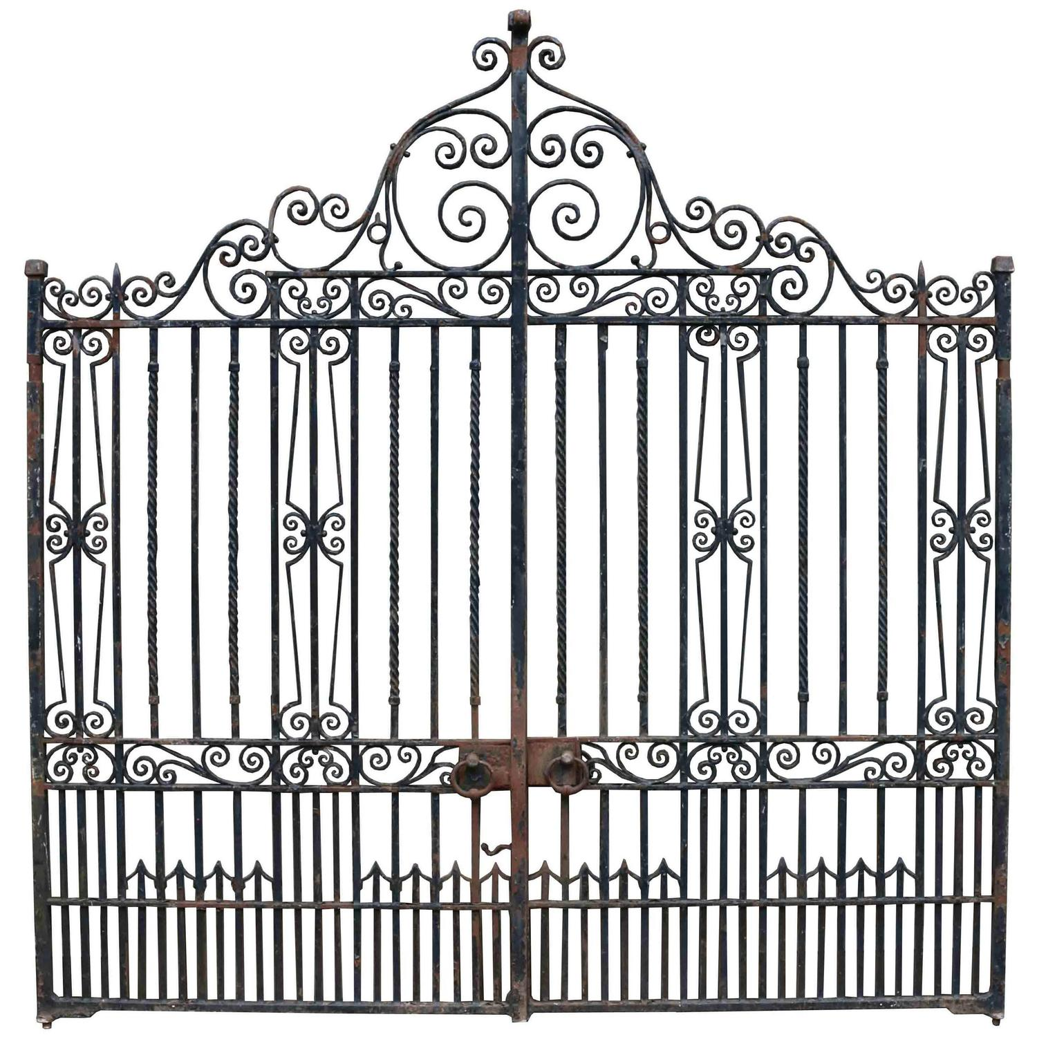 - Pair Of Antique Wrought Iron Driveway Gates At 1stdibs